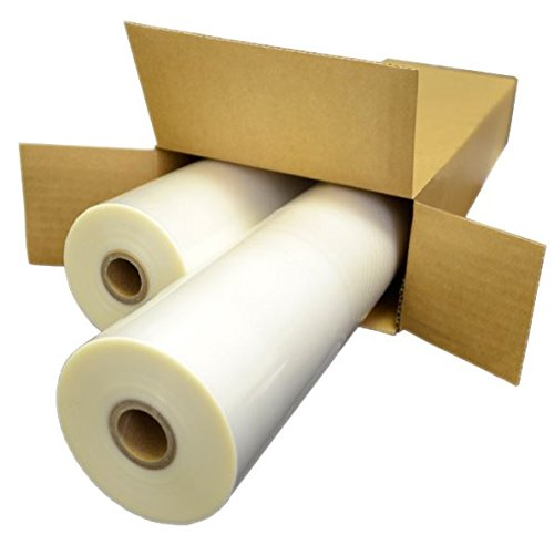 Signature Thermal Roll Laminating Film - 3mil 27'' x 250' x 1'' Core - Clear Gloss - 2 Rolls/Box by Signature