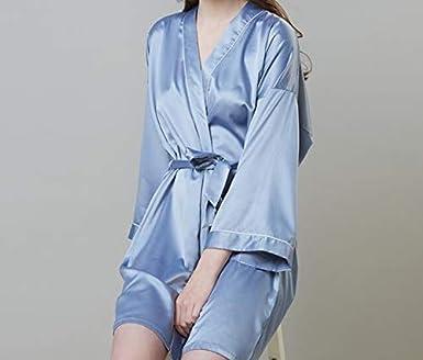 Comfortable Loungewear Nightwear for Women CRESCENTT Summer Sleepwear Robe Silk Satin Kimono Style