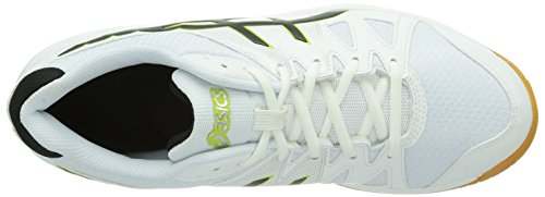 Asics Gel-Upcourt - Zapatos de deporte de interior unisex Blanco (WHITE/BLACK/SILVER 0190)