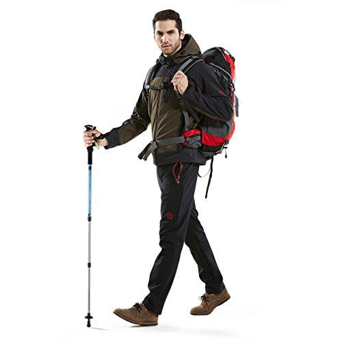 Andake Trekking Poles 1 Pair, Retractable durable 7075 Aluminum Alpenstock with Comfortable Foam Handle, Ultralight & Portable Anti-Shock Walking Stick for Hiking, Walking and Camping, 2-Pack
