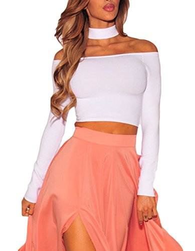 Astylish Womens Sleeve Choker Shoulder