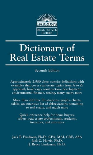 Dictionary of Real Estate Terms (Barron's Business Guides)