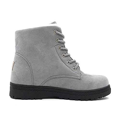 Gefüttert Outdoor Boots Damen Warm LS Sneaker Worker Stiefeletten Winter Grau Wicky 6URqPR