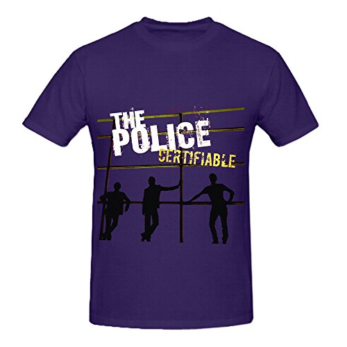 [The Police Certifiable Live In Buenos Aires 80s Men Round Neck Diy T Shirt] (Diy 80s Fancy Dress)