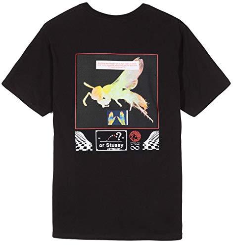 Black shirt 1904350 t In Cotone Stussy qOx6X4wW