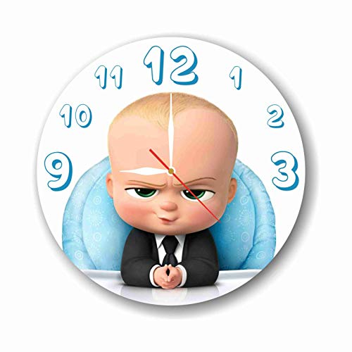 MAGIC WALL CLOCK FOR DISNEY FANS FBA The Boss Baby 11.8'' Handmade Made of Acrylic Glass - Get Unique décor for Home or Office - Best Gift Ideas for Kids, Friends, Parents and Your Soul Mates