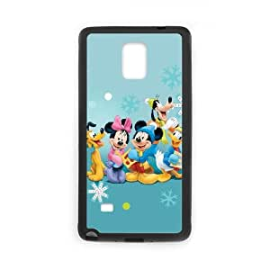 Samsung Galaxy Note 4 Cell Phone Case Black Disney Mickey Mouse Minnie Mouse Ivic