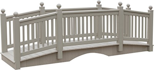 12 Foot Vinyl Outdoor Bridge with Gray Vekadeck Flooring - Clay - Amish Made in USA by Furniture Barn USA