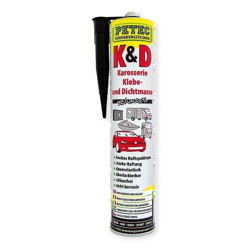 Petec 94730 adhesivas y masilla carrocerí a adhesivo, 310 ml, color negro 310ml Petec Verbindunstechnik GmbH B001LV5LFQ