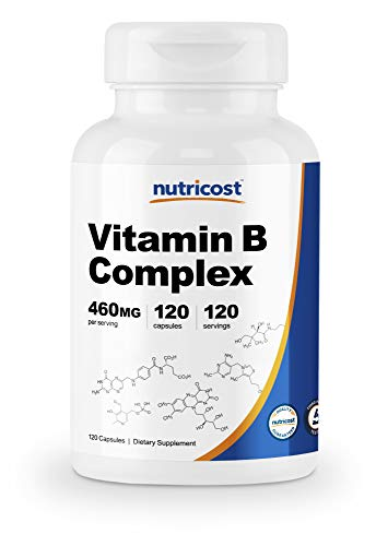 Nutricost High Potency Vitamin B Complex 460mg, 120 Capsules – with Vitamin C – Energy Complex