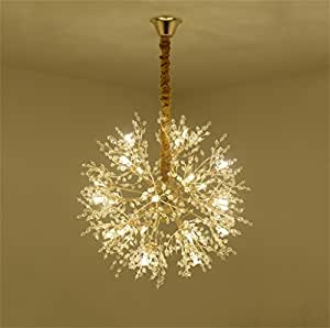Cqq Ceiling Lighting Nordic Creative Living Room Chandelier Simple Postmodern Personality Art Chandelier Bedroom Restaurant Crystal Gown Star Clothing Store Lights chandelier ( Color : Warm light , Size : 49*49*49cm-12 heads )