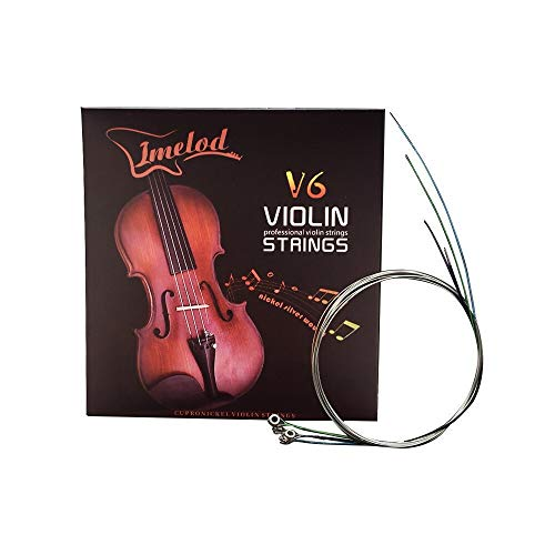 Violin strings Universal Full Set (G-D-A-E) violin Fiddle String Strings Steel Core Nickel-silver Wound with Nickel-plated Ball End for 4/4 3/4 1/2 1/4 Violins