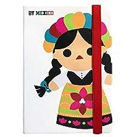 By Mexico Libreta Rayada Muñeca María Blanco 80 hojas