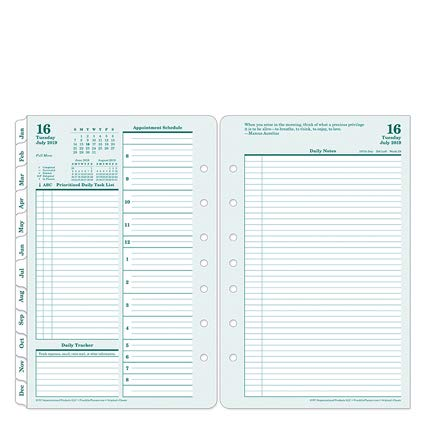 Classic Original Daily Ring-Bound Planner - Jul 2019 - Jun 2020 - Franklin Covey Planner Refills