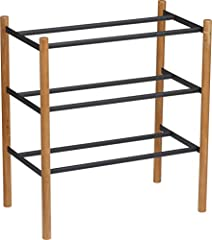 Your growing, ever-changing shoe collection need not suffer due to lack of space thanks to this extendable shoe rack which neatly arranges many pairs of shoes on three tiers that provide an abundant storage solution