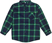 Boys Clothes Gentleman Plaid Flannel Formal Shirt with Button Down Kids Outfit