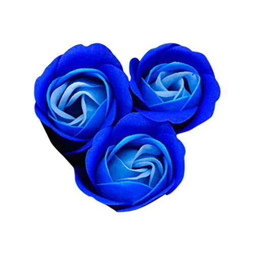 ZTTONE Wedding Bouquet,ZTTONEHeart Scented Bath Body Petal Rose Flower Soap Wedding Decoration Gift 3pc ()