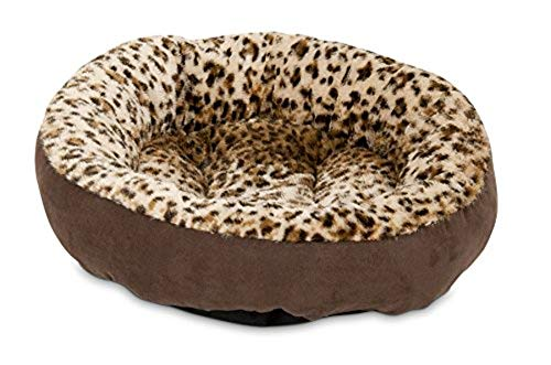 - Aspen Pet Round Animal Print Pet Bed for Small Dogs and Cats 18-inch by 18-inch