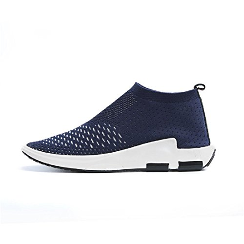 Hombres Zapatos de ocio Respirable elasticidad Casa Zapatos casuales Zapatos planos Zapatos perezosos Blue
