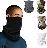 Neck Gaiter Headband Tube Bandana Elastic Scarf Sunscreen Balaclava Magic Wicking Face Mask Dust Sun UV Protection...