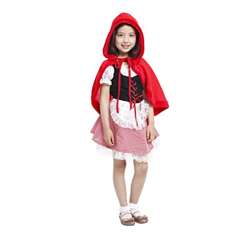 Spooktacular Girls' Red Hooded Cape Dress-Up Costume Set, XL - Little Red Riding Hood Girls Costume