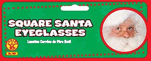 /Talla /única Disfraz para Adultos/ Rubies s Oficial Gafas de Pap/á Noel Cuadrado de Pap/á Noel