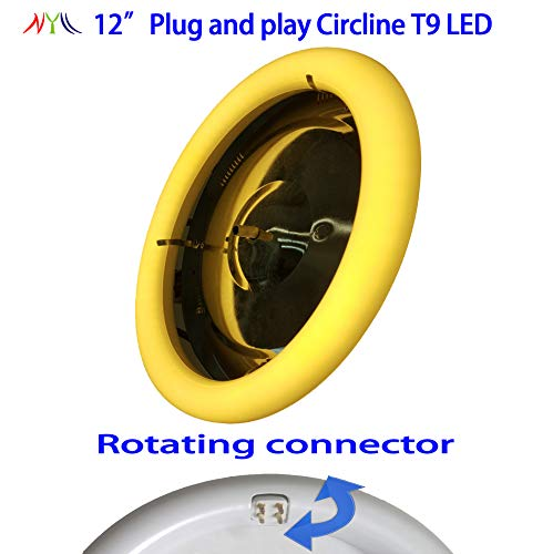 NYLL - 12 Inch/ 12 Plug & Play Circle LED - Warm White (2700K) Circline T9 LED Directly Relamp & Replace 32 Watt 12 Fluorescent Bulb FC12T9 (Without Rewiring or Modification) - Ballast Required!
