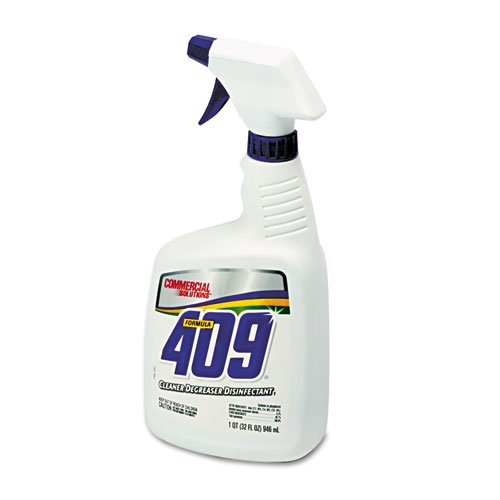 Clorox Company Formula (Clorox Company Products - 409 Cleaner/Degreaser/Disinfectant, 32 oz., Spray Bottle - Sold as 1 EA - Formula 409 Cleaner/Degreaser/Disinfectant cleans and degreases any hard, nonporous surface. Cleaner-degreaser is formulated to tackle even the toughest, most stubborn jobs, removing food soils, soap scum, lubricants, grease, grime, smoke and vapor deposits. Use on greasy engines, soiled floors, smeared walls, blinds, tools and more. Ready-to-use, no-rinse formula saves time and labor and eliminat)