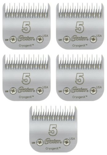Oster CryogenX Skip Tooth Blade, Size 5 (5 x 1ct) by Oster (Image #1)