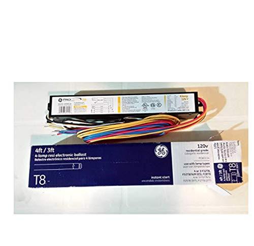 GE 120V 4-Lamp Residential Electronic Fluorescent Light Ballast Instant Start T8