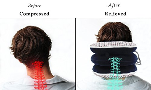No1 Neck Traction Device + Washable Cover + Muscle Pain Relief Balm, CHISOFT (3rd Edition) Cervical Unit 3 Layer Neck Collar by CHISOFT (Image #1)