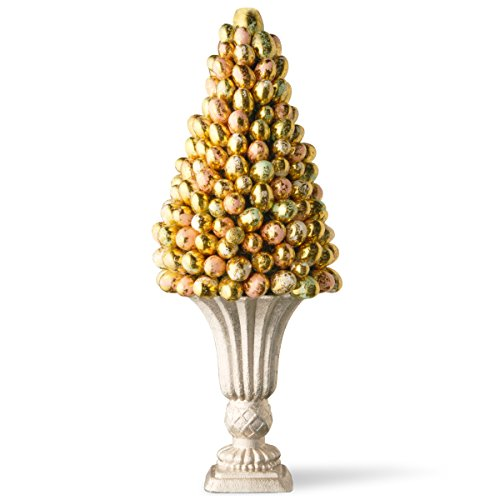 National Tree 17 Inch Easter Egg Tree with Gold and Pearl Miniature Eggs (RAE-TR030197A-1)