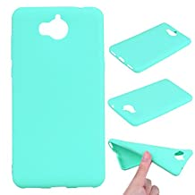 Huawei Y5 2017 Case,Huawei Y6 2017 Case, Ngift [Green] [Perfect Fit] Resistant Protective Cover Lightweight Super Slim Soft TPU Case with for Huawei Y5 2017/Huawei Y6 2017