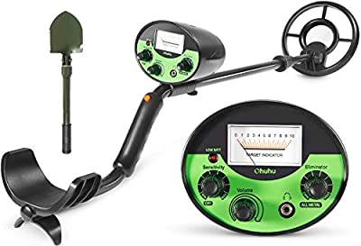 Ohuhu Metal Detector, High Accuracy Detector with Pinpoint Function, Summer Beach & Forest Treasure Hunting Game, Outdoor Gold Digger with Waterproof & Sensitive Search Coil, Bonus A Foldable Shovel
