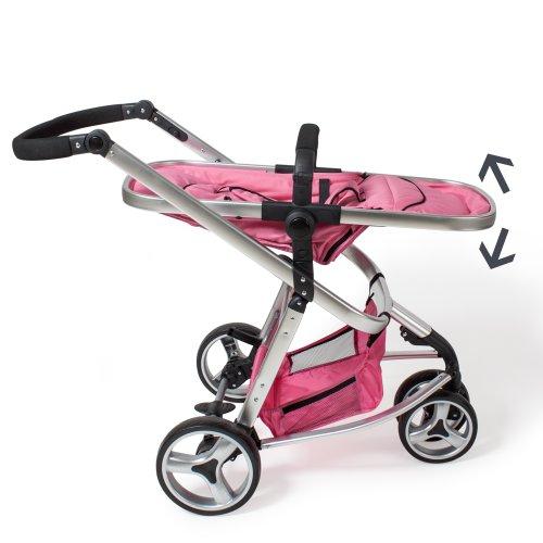 TecTake 3 en 1 cochecito Combi Buggy Baby Jogger Viaje Buggy cochecito Kids – Varios colores de rosa