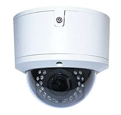 Gawker HD TVI Vandal Proof Dome CCTV Camera, 1080P, IP66 Weather Proof, 2.8-12mm Varifocal Lens, IR Smart No Ghost Image, DNR OSD, White Color Metal case, DC12V by Gawker