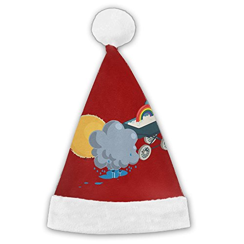 Holiday Costumes House Columbus (Colla Collasunny Rainy And Rainbow Santa Hat Perfect Accessory For Santa Claus Costume - Celebrate Xmas With Family & Friends Medium)