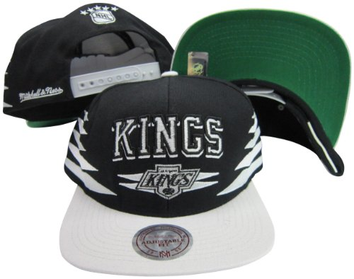 Los Angeles Kings Diamond Black/Silver Two Tone Plastic Snapback Adjustable Snap Back Hat / Cap (Mitchell Ness Diamond)