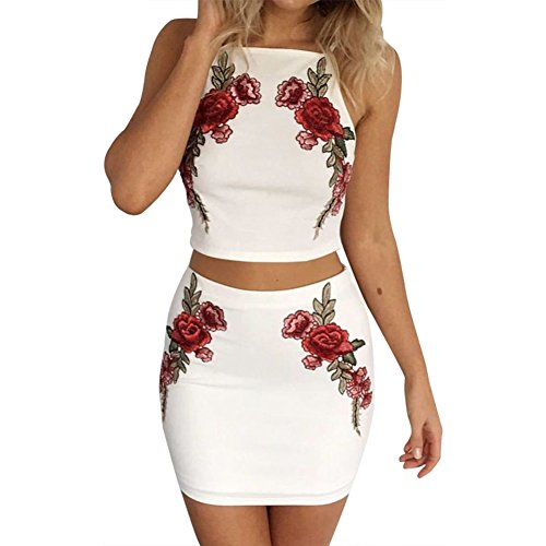 Womens Embroidered Skirt Set - 6
