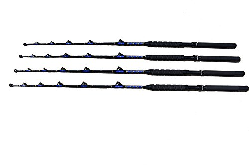 Saltwater fishing roller rods 4 pack 100-120 lb.