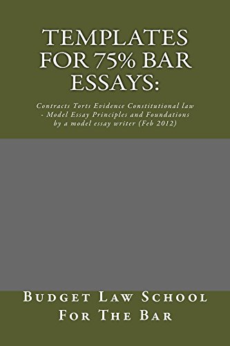 Templates For 75% bar Essays: (Some Readers Allowed To Read Free Without Purchasing!): e book: Templates For 75% Bar exam essays
