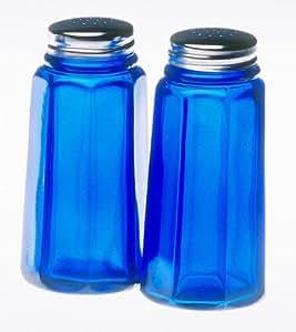 Mosser Glass Salt and Pepper in Cobalt
