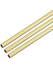 YeVhear Ronde buis, messing, 300 mm lang, 3,5 mm OD, 0,2 mm wanddikte, recht, naadloos, 3 stuks