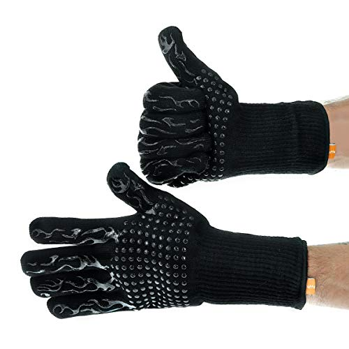Giraffe Monkey Heat Resistant BBQ Grill Gloves and Oven Mitts, One Pair, Durable, Insulated, Fireproof Kitchen Mitts for Cooking, Grilling, Frying, Baking, Indoor/Outdoor Accessories for Men & Women