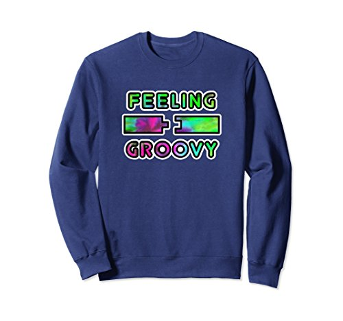 Unisex Feeling Groovy Funny Carpenter Humor Sweatshirt Medium Navy