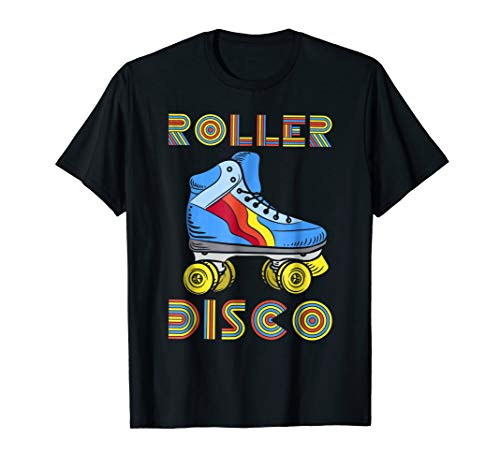 (Vintage Retro Roller Disco T-Shirt 80s 70s Skating Party)
