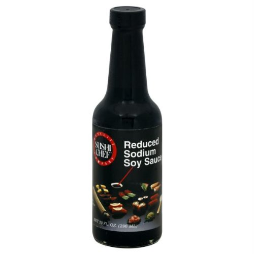 SUSHI CHEF SAUCE SOY REDUCED SODIUM, 10 FO (Sushi Sushi Chef Soy)