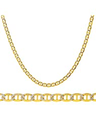 """14k Yellow Gold 3.3mm Pave Mariner Chain - 18"""" 20"""" 22"""" & 24"""" Available"""