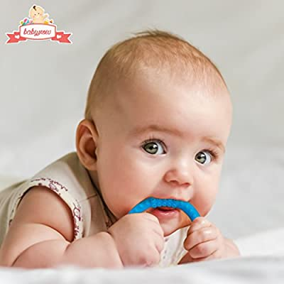 Teether - Baby Teething Rings - Soft Silicone Infant Toy - No BPA - Toddler Pacifier Rattle - Soothing Gum Relief