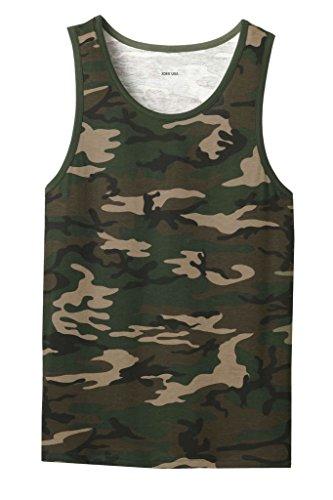 Joe's USA(tm) Young Men's Cotton Ringer Tank Top Military Camo-3XL